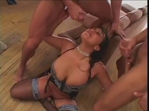 Dirty Talking Bitch Group Sex