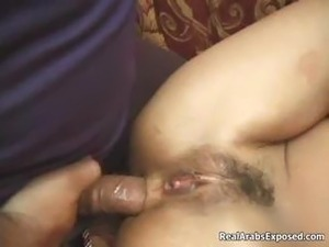 Horny arab whore getting her tight ass part6