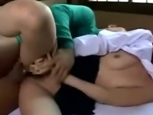 Japanese asian schoolgirl fucking